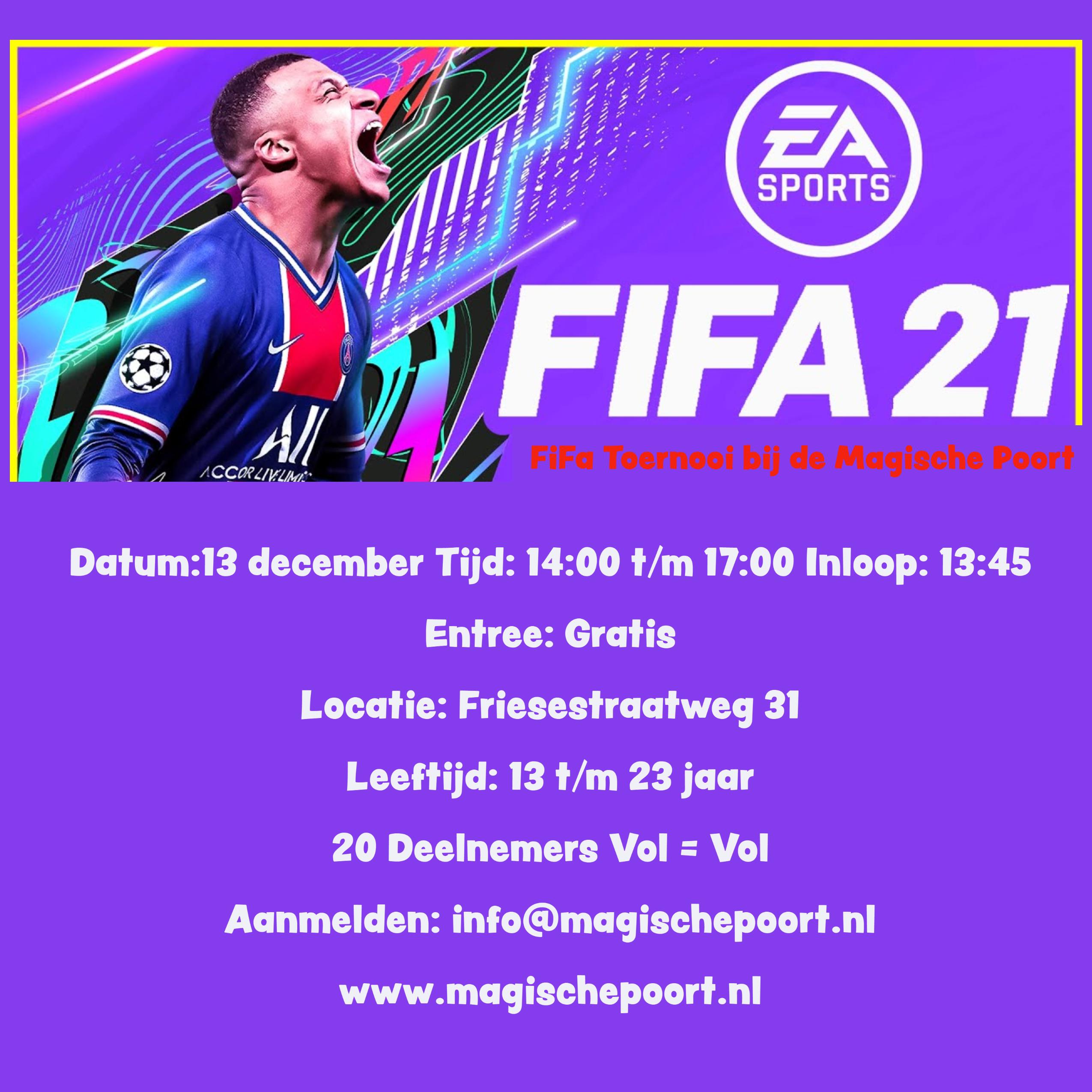 FIFA Toernooi voor jongeren bij de Magische Poort